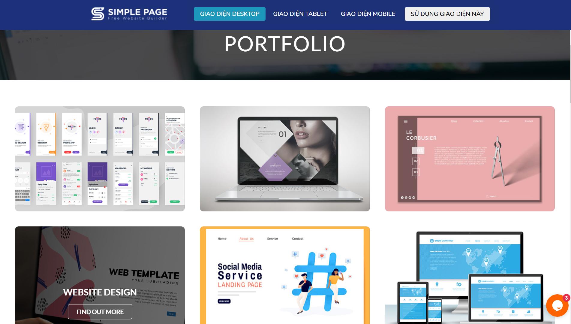 Mẫu landing page portfolio-1