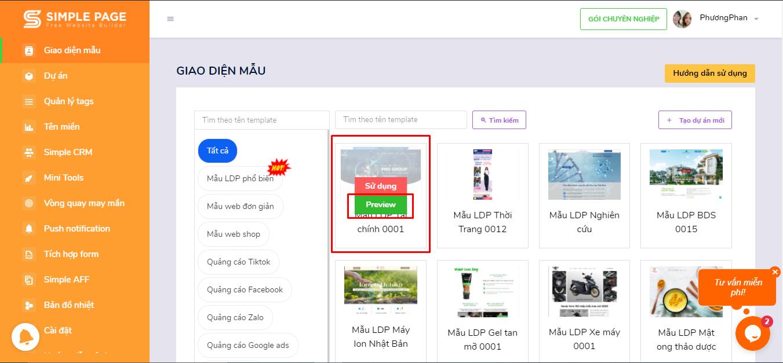 hướng dẫn chi tiết sử dụng Landing Page
