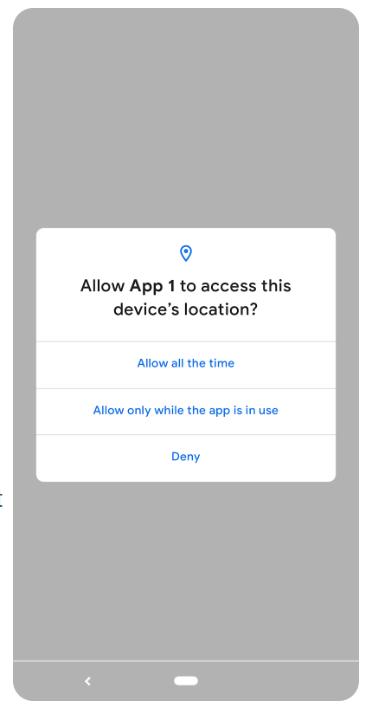 Cho phép truy cập vị trí