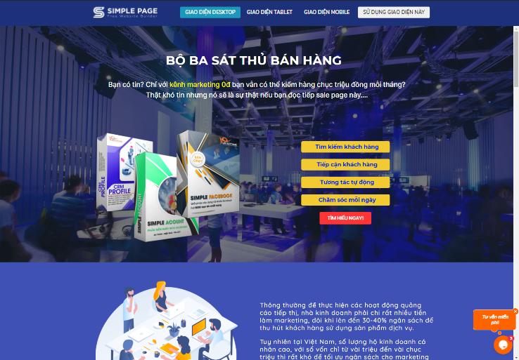 Mẫu Landing Page Phần mềm – Game – App