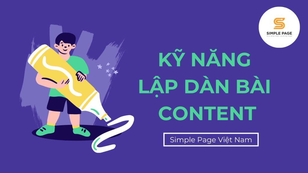 Lập dàn bài cho người viết content
