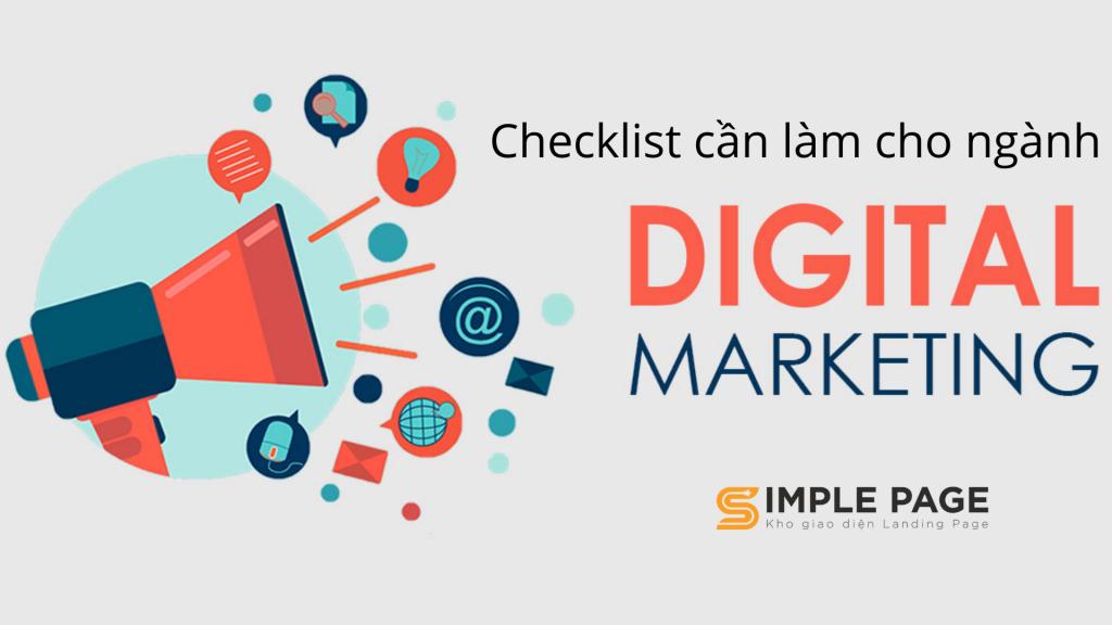 Checklist cần làm cho ngành Digital Marketing