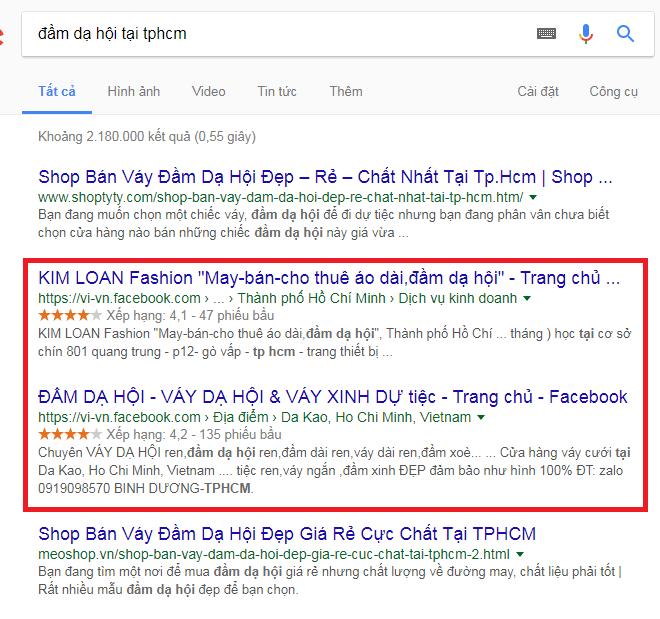 Seo fanpage lên top google