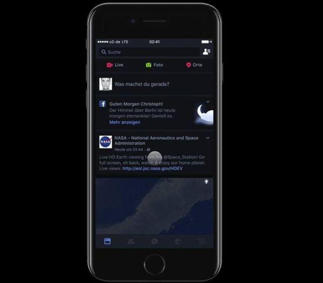 Facebook Dark Mode trên Iphone