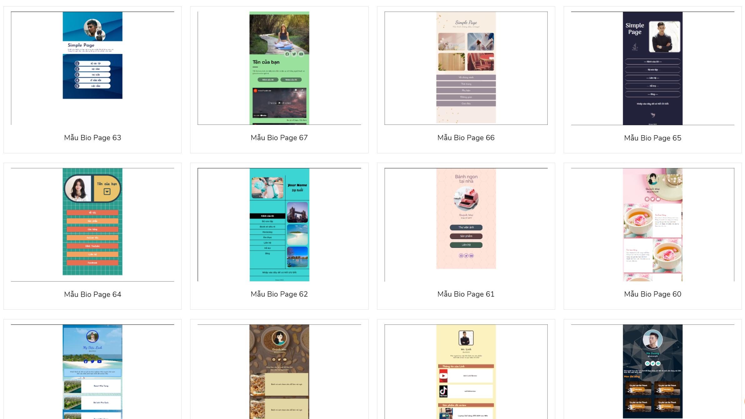 Tạo biopage miễn phí cùng Biopage.vn