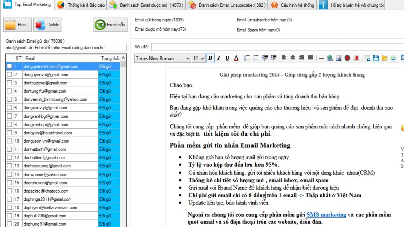 Phần mềm Top Email Marketing