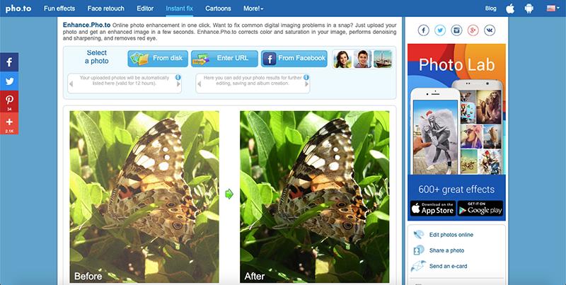 Tăng chất lượng ảnh trực tuyến bằng Enhance Pho