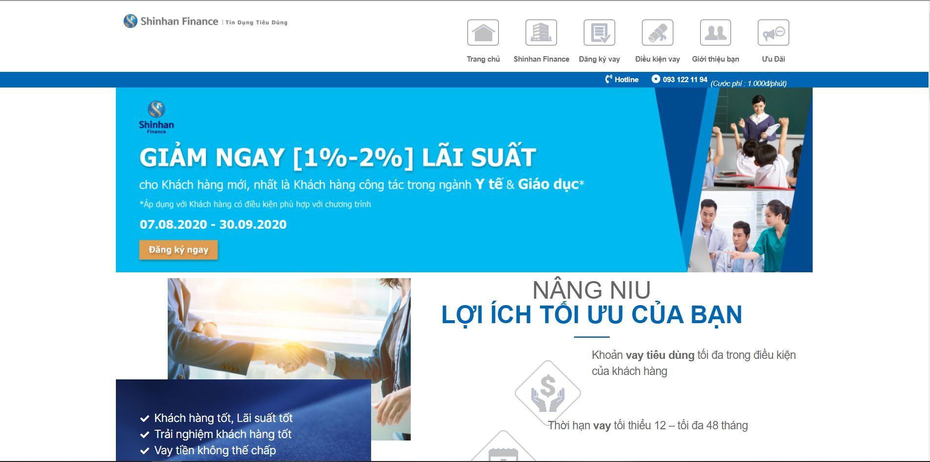 landing page ngân hàng