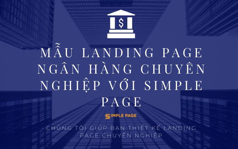 mẫu landing page ngân hàng