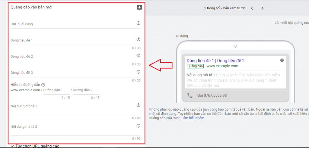 mo ta cho mau quang cao google ATPWeb - Khởi Tạo Ngôi Nhà Online