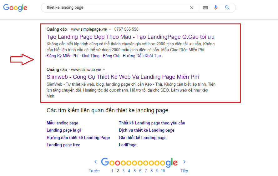 quang cao google o cuoi trang ATPWeb - Khởi Tạo Ngôi Nhà Online